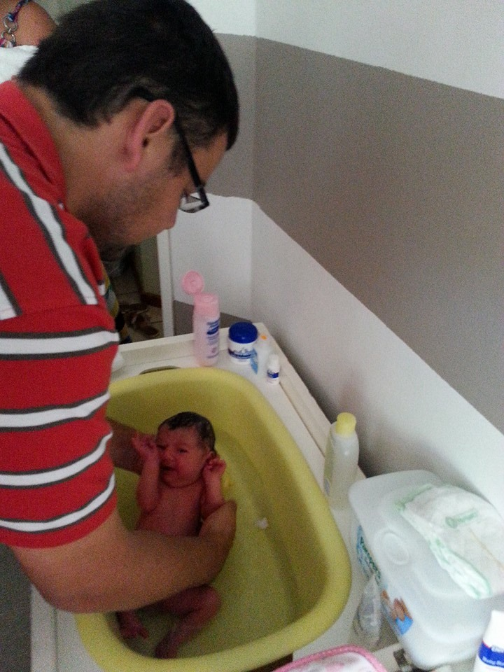 Daddy bathtime