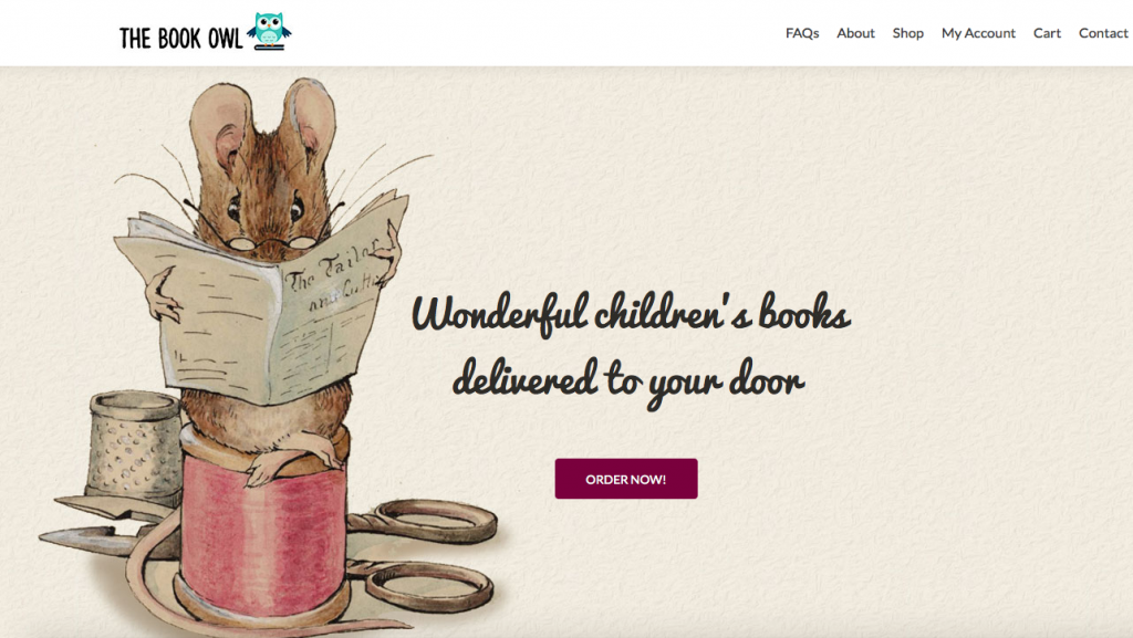 The Book Owl front page