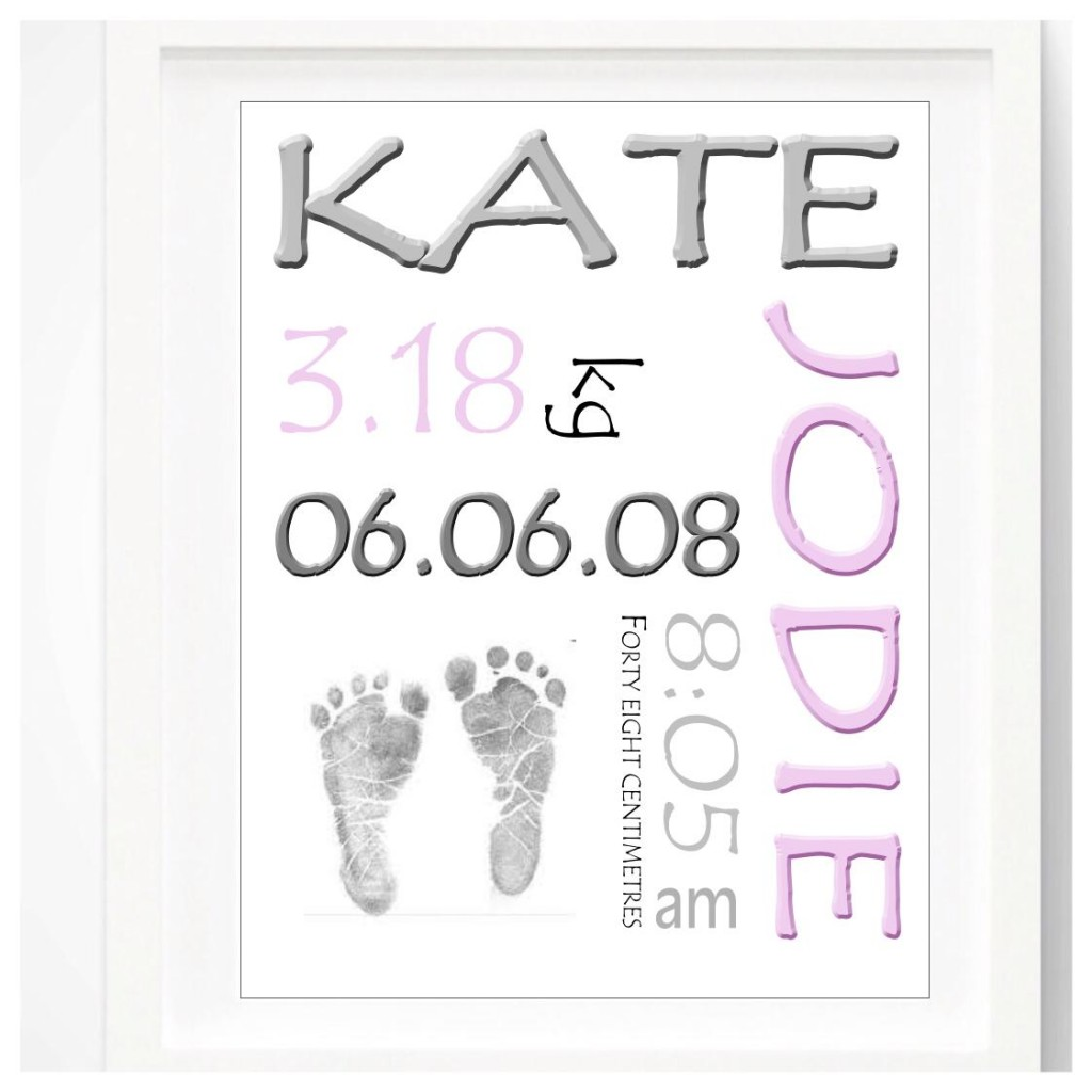 FRAMED PERSONALISED BIRTH BOARD