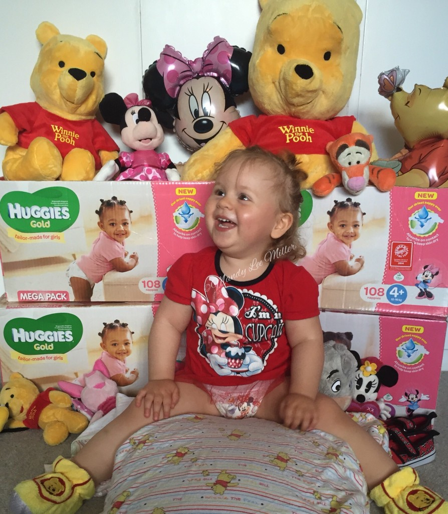 Charly loves #HuggiesGold & Disney