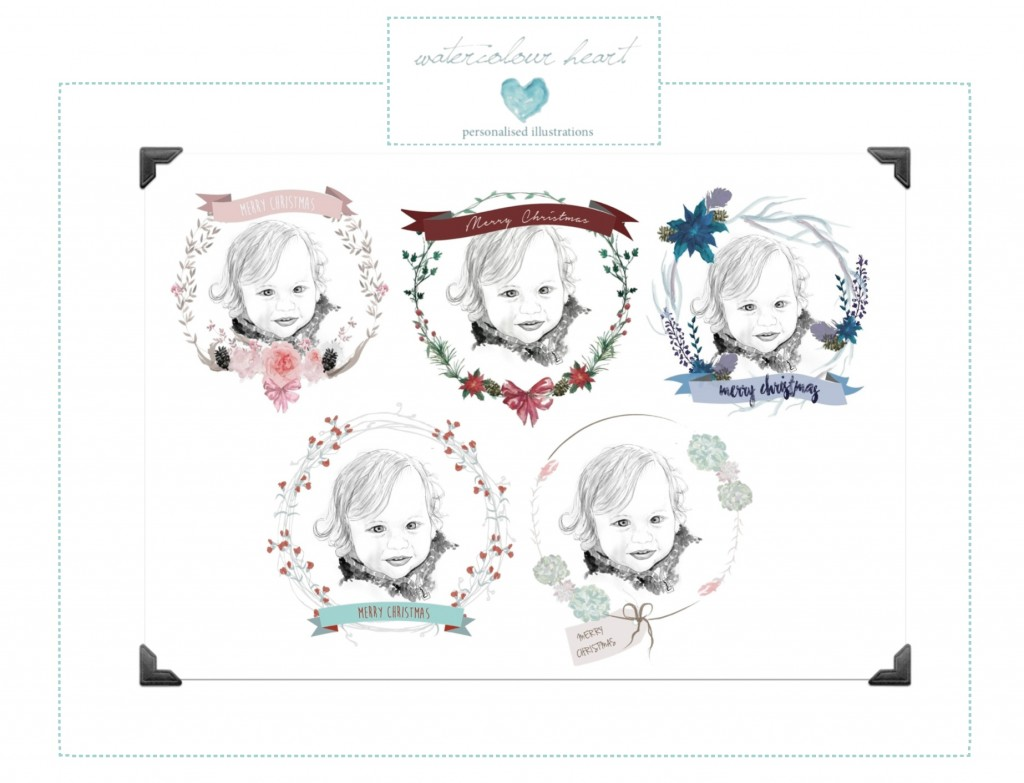 Watercolour Heart Wreaths