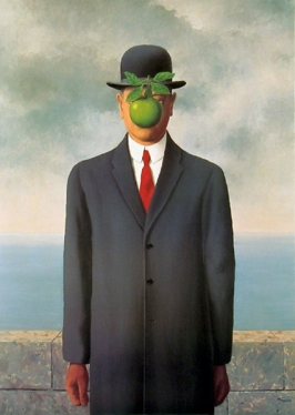 Magritte, The Son of Man, 1964, Restored by Shimon D. Yanowitz, 2009