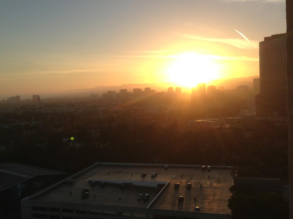 Copyright MLM Sunset over LA from our hotel