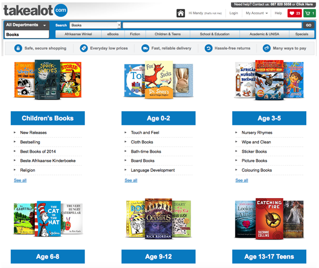 TAKEALOT books