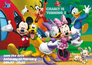 Mickey Mouse Clubhouse Birthday Party invite