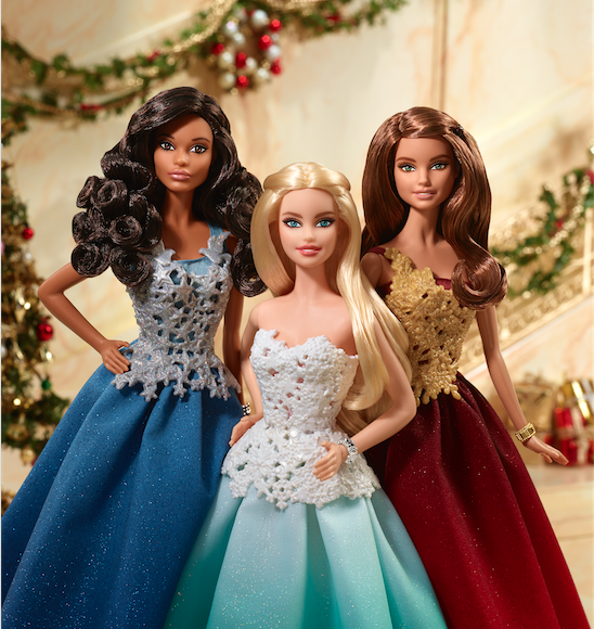 holiday barbie festive