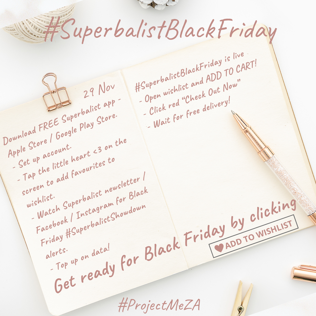 Superbalist black friday checklist